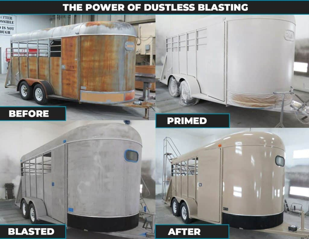 Dustless blasting by Vortex Pro Wash